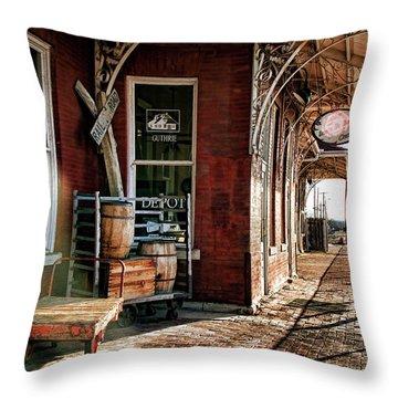 Santa Fe Depot Of Guthrie Throw Pillow