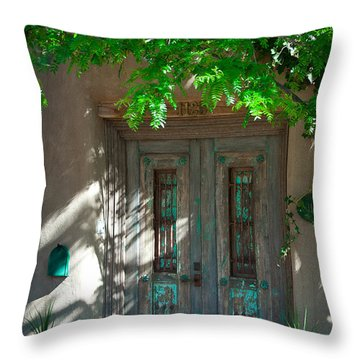 Santa Fe Door Throw Pillow