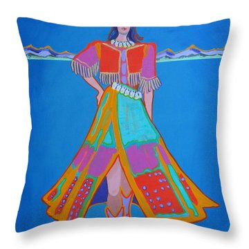 Santa Fe Girl  Throw Pillow