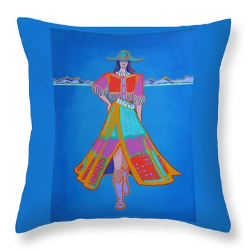 Santa Fe Girl  Throw Pillow
