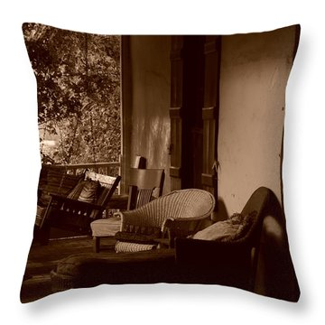 Throw Pillow featuring the photograph Santa Fe Porch by Susie Rieple