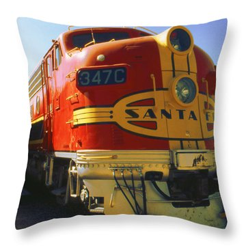 Santa Fe Railroad Throw Pillow by Art America Gallery Peter Potter