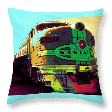 Santa Fe Railroad New Mexico Throw Pillow
