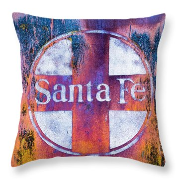 Santa Fe Rr Throw Pillow