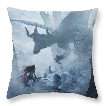 Santa Georgina Vs The Dragon Throw Pillow