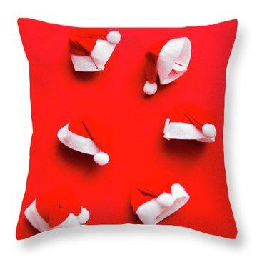 Santa Hat Party Throw Pillow