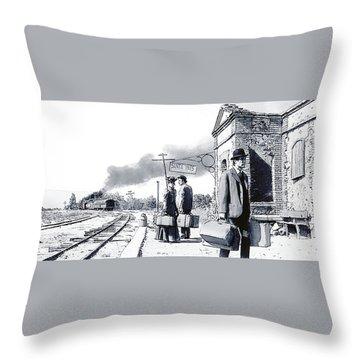 Santa Ines Station Throw Pillow by Kurt Ramschissel