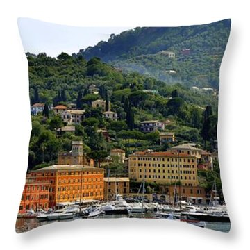 Throw Pillow featuring the photograph Santa Margherita Ligure by Corinne Rhode