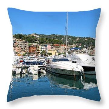 Santa Margherita Ligure Panoramic Throw Pillow by Adam Romanowicz