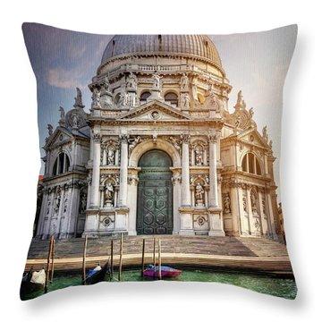 Santa Maria Della Salute - Venice  Throw Pillow