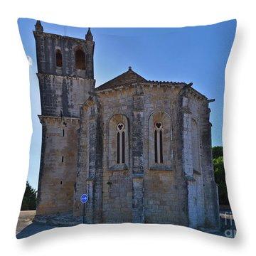 Santa Maria Do Carmo Church In Lourinha. Portugal Throw Pillow