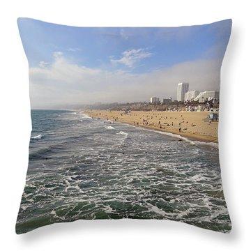 Santa Monica Beach Throw Pillow