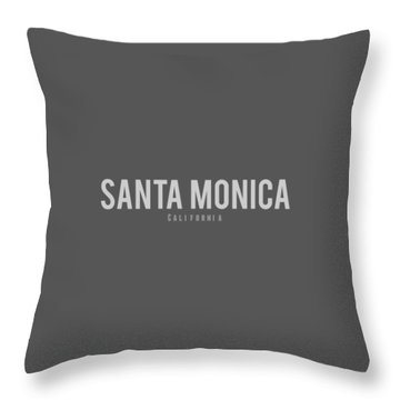 Santa Monica California Throw Pillow by Sean McDunn