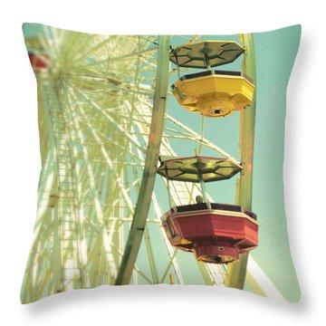 Santa Monica Ferris Wheel Throw Pillow