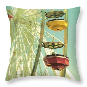 Santa Monica Ferris Wheel Throw Pillow