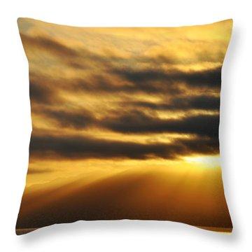 Throw Pillow featuring the photograph Santa Monica Golden Hour by Kyle Hanson