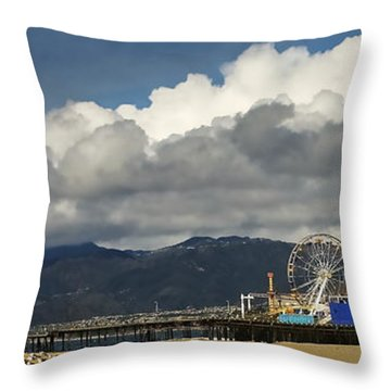 Santa Monica Pier Pan Throw Pillow