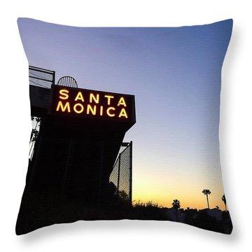 Santa Monica Sunrise Throw Pillow