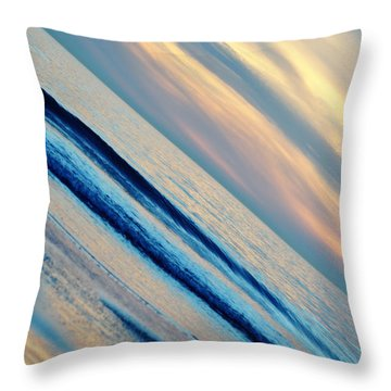 Throw Pillow featuring the photograph Santa Monica Sunset by Kyle Hanson