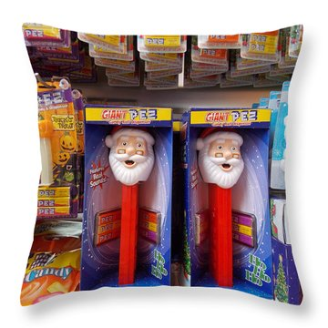 Santa Pez Throw Pillow