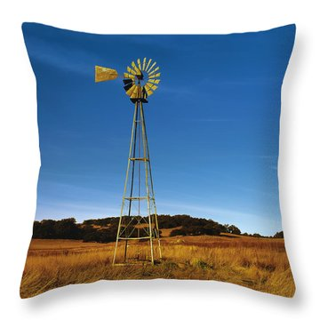 Santa Rosa Plateau Windmill Throw Pillow