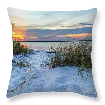 Santa Rosa Sound Sunset Throw Pillow