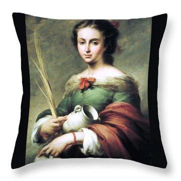 Throw Pillow featuring the painting Santa Rufina by Pg Reproductions
