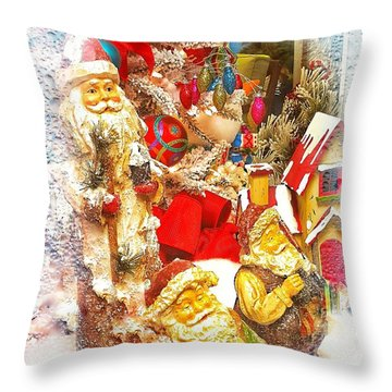 Santa Scene 1 Throw Pillow