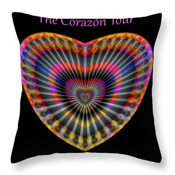 Santana The Corazon Tour Throw Pillow