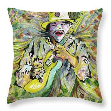 Santana's Sacred Fire Throw Pillow