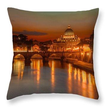 Sant'angelo Bridge Throw Pillow