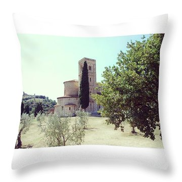 Abbey Of Sant'antimo Throw Pillow
