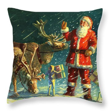 Santa Throw Pillows