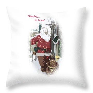 Throw Pillow featuring the photograph Santa's Checklist by Ellen O'Reilly