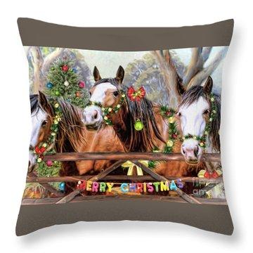 Santa's Helpers Throw Pillow