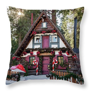 Throw Pillow featuring the photograph Santa's House by Eddie Yerkish