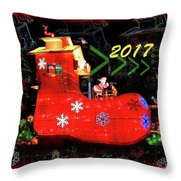 Santa's Magic Stocking Throw Pillow