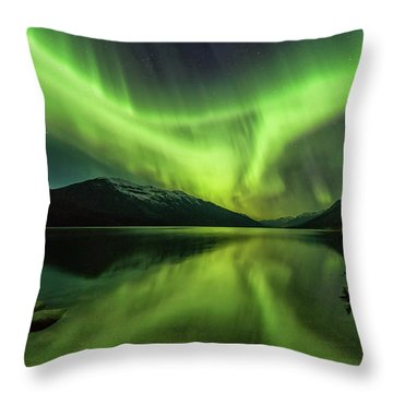 Santa's Wake Throw Pillow