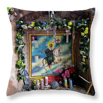 Santiago Apostel Chimayo Throw Pillow by Kurt Van Wagner