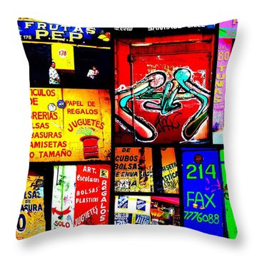 Santiago Funky Walls  Throw Pillow