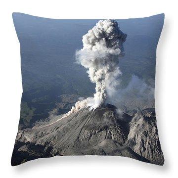 Santiaguito Ash Eruption, Guatemala Throw Pillow by Martin Rietze
