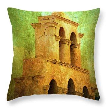 Santorini Arches And Cross Throw Pillow