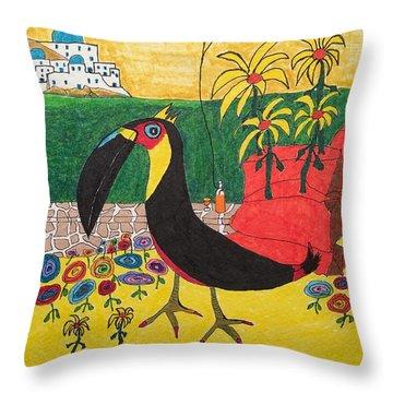 Santorini-esque Throw Pillow