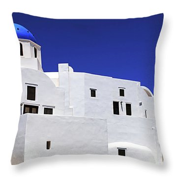 Throw Pillow featuring the photograph Santorini Greece Architectual Line 6 by Bob Christopher