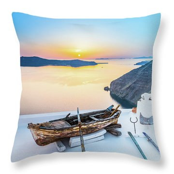 Santorini - Greece Throw Pillow