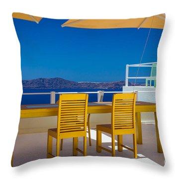 Santorini Patio Throw Pillow