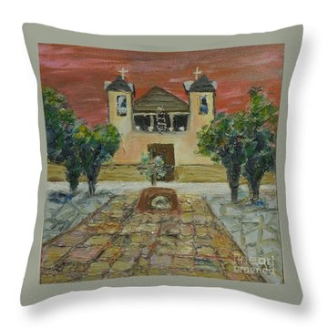 Santuario De Chimayo - Sold Throw Pillow by Judith Espinoza