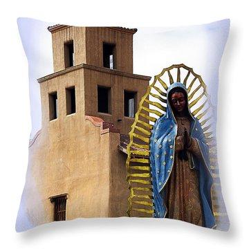 Throw Pillow featuring the photograph Santuario De Guadalupe Santa Fe New Mexico by Kurt Van Wagner