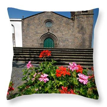 Sao Miguel Arcanjo Church Throw Pillow by Gaspar Avila