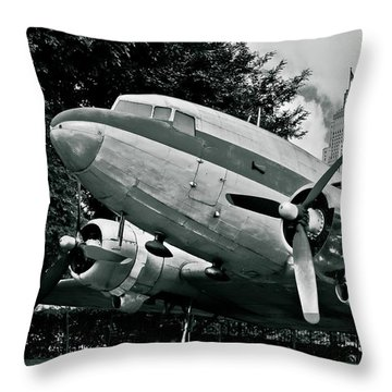 Classic Aircraft Douglas Dc-3 Throw Pillow